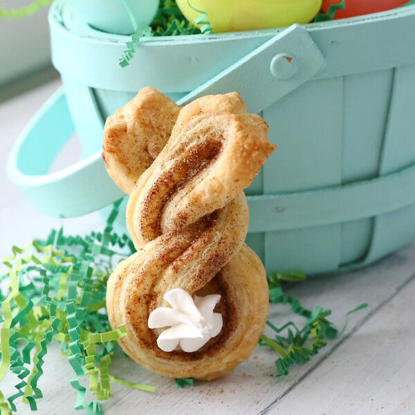 Cinnamon sugar bunnies are a fun, easy Easter treat to make with your kids.