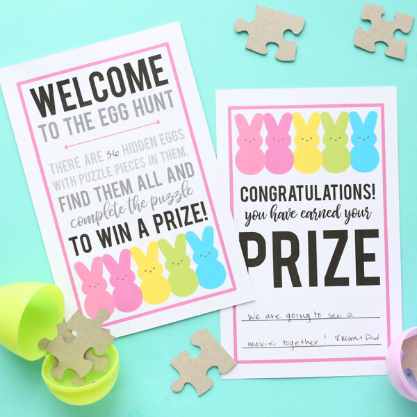 Puzzle Easter egg hunt printable