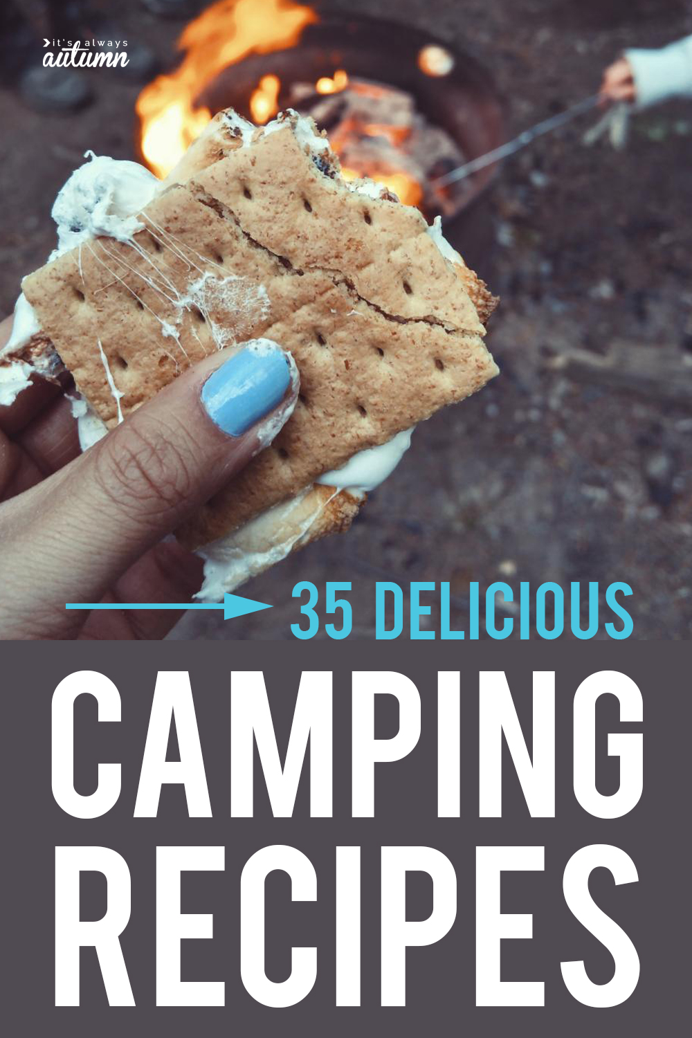 35 delicious camping recipes! The best camping food ideas, including foil packet dinners, dutch oven dinners, breakfast ideas, campfire desserts, and more.
