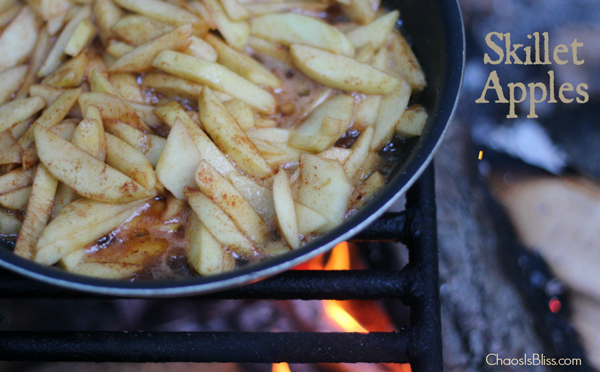 Campfire skillet apples | 35 best camping food ideas