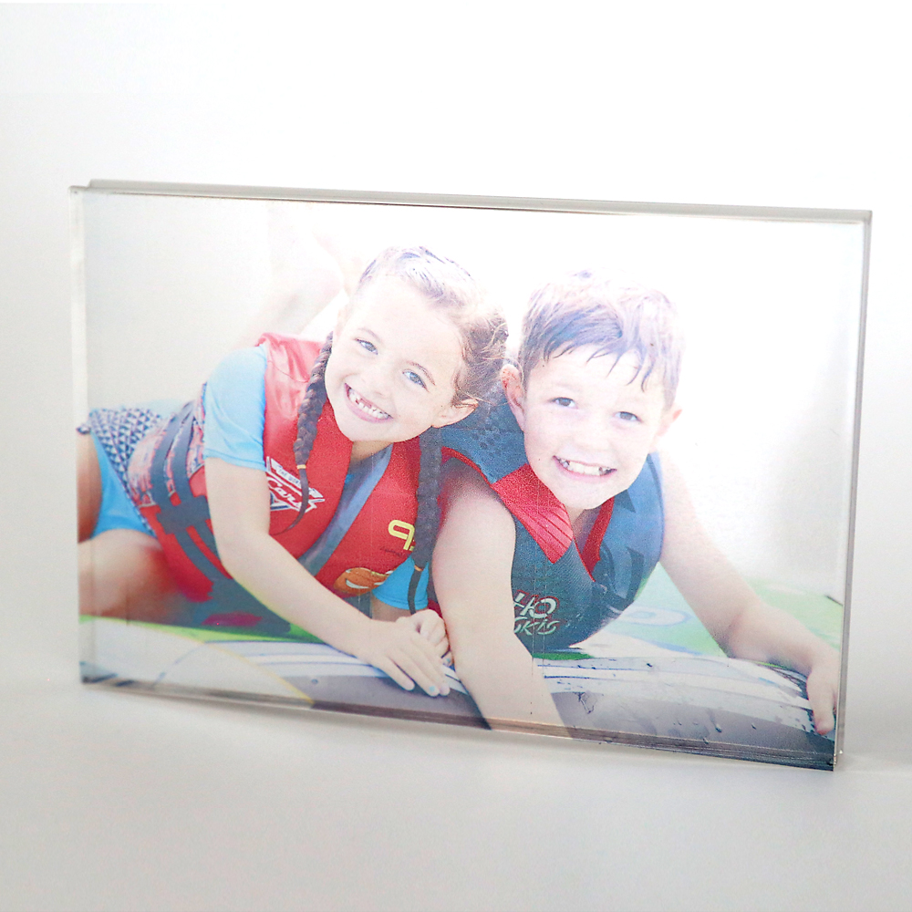 Learn how to make an acrylic photo block in under ten minutes! Easy DIY gift idea. DIY Mother's Day gift idea.