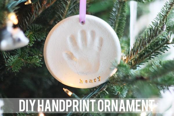Adorable DIY handprint ornament | 30 best handprint art ideas