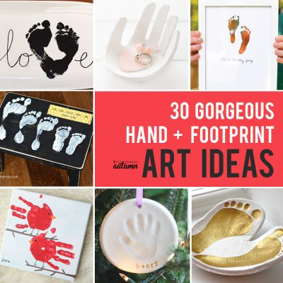 The BIG list of handprint art, gifts + keepsakes (footprints too!)