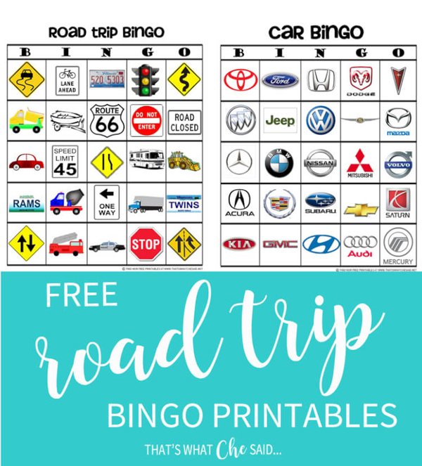 Road trip bingo printables | Best ideas for road trips with kids