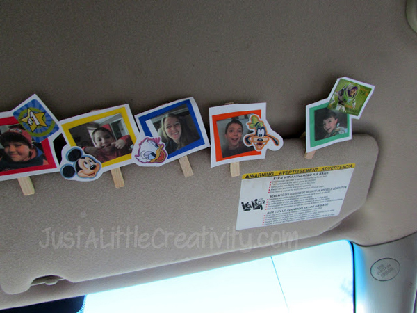 Promote good behavior in the car with visor clips | Best ideas for road trips with kids