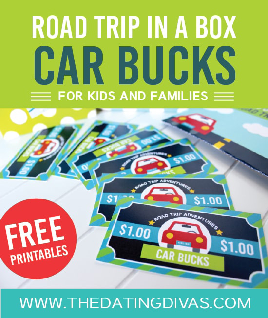 Reward good behavior in the car with car bucks | Best road trip with kids hacks