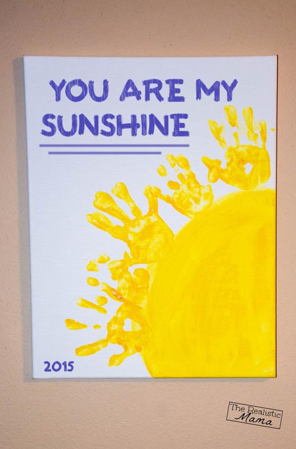 You are my sunshine handprint art | 30 best handprint art ideas