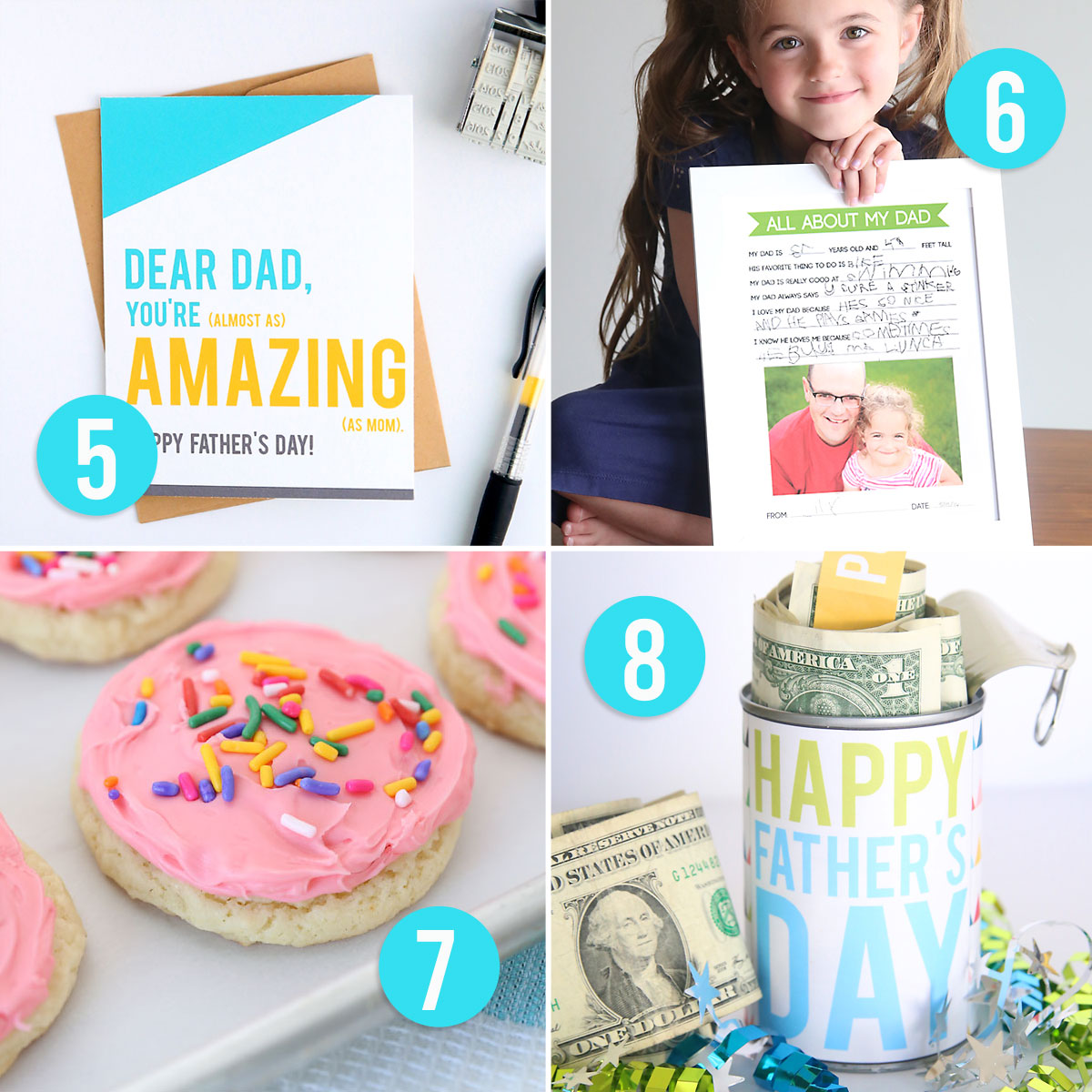 20 cool DIY Father's Day gift ideas! Great homemade gift ideas for Dad.