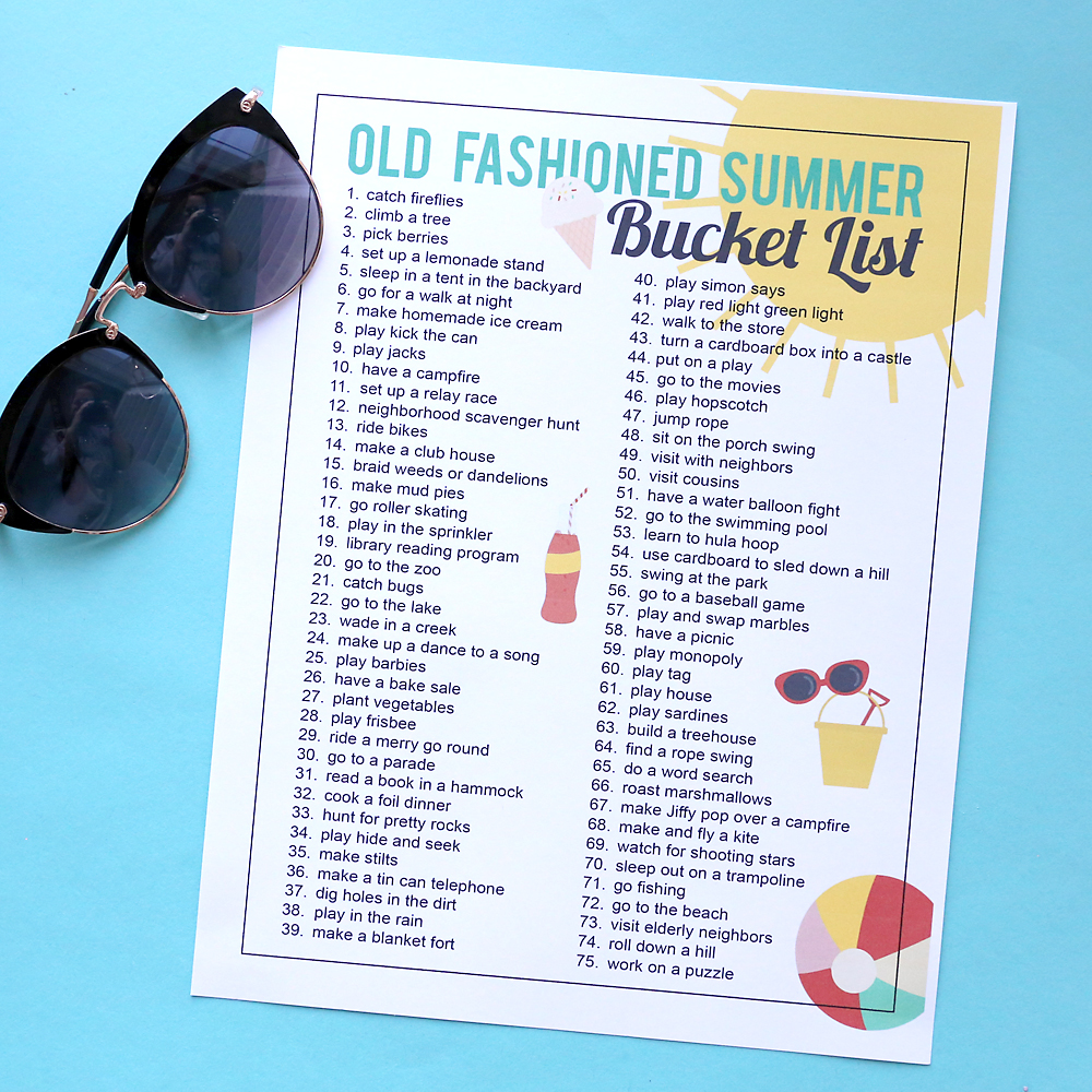 How to have an old fashioned summer: 75 electronics-free summer activities for kids