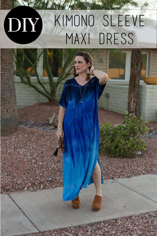 Blue long dress patter