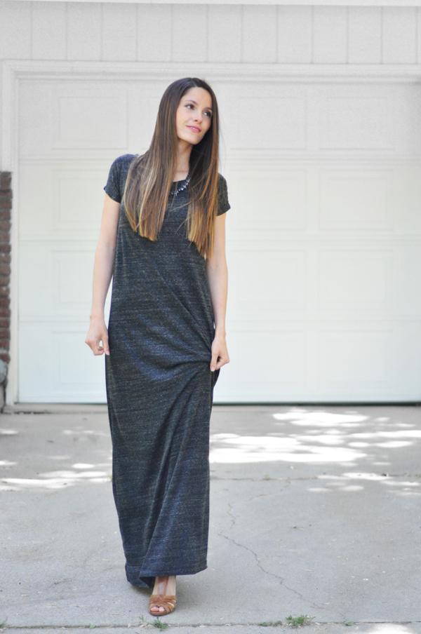 Easy t-shirt maxi dress pattern
