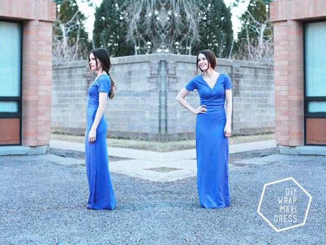 Wrap maxi pattern: 27 maxi dress patterns