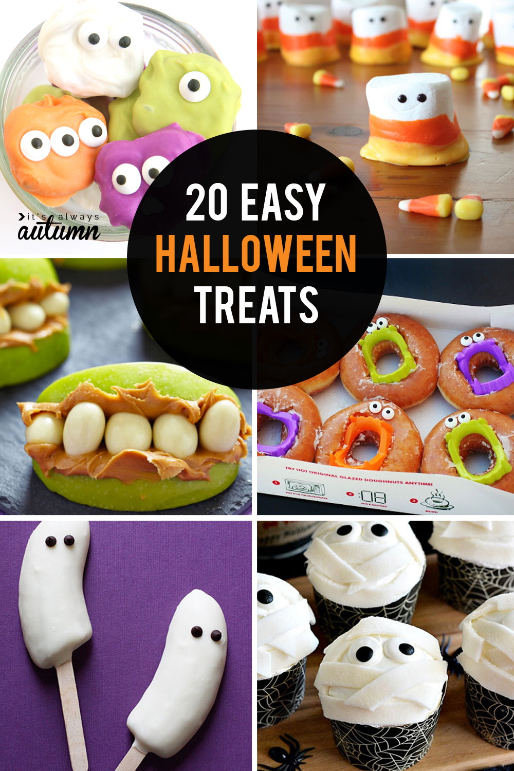 20 Fun Easy Halloween Treats To Make With Your Kids It S Always Autumn