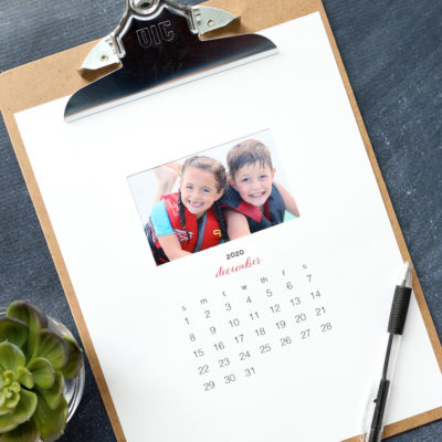 Make a personalized 2020 photo calendar {free templates}