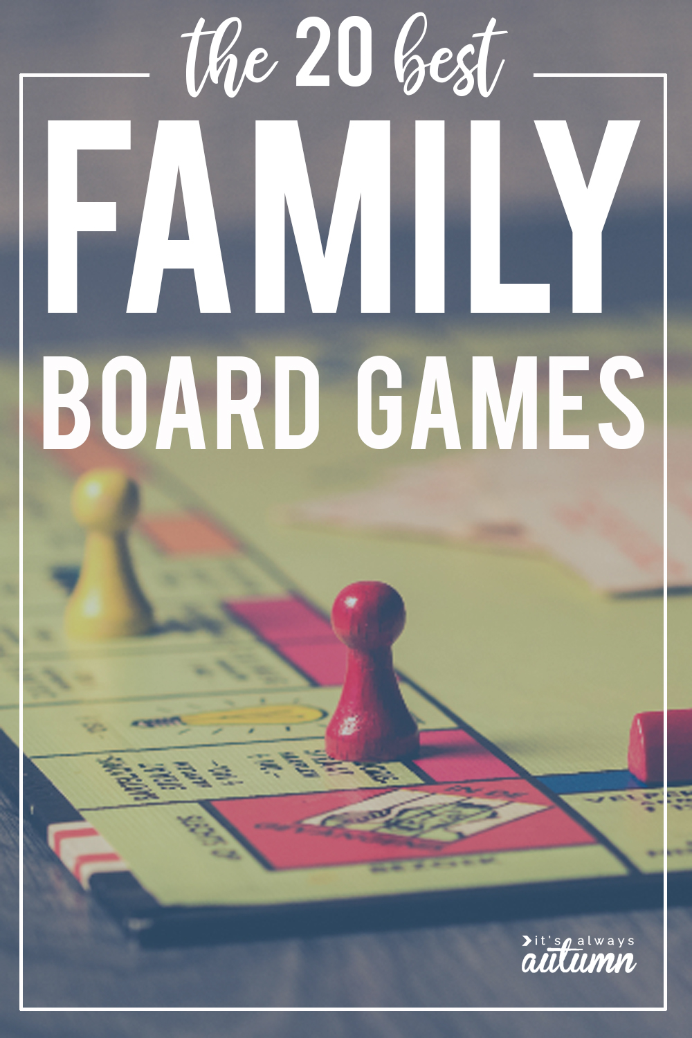 These family board games are so much fun! The 20 best family games that everyone will love.