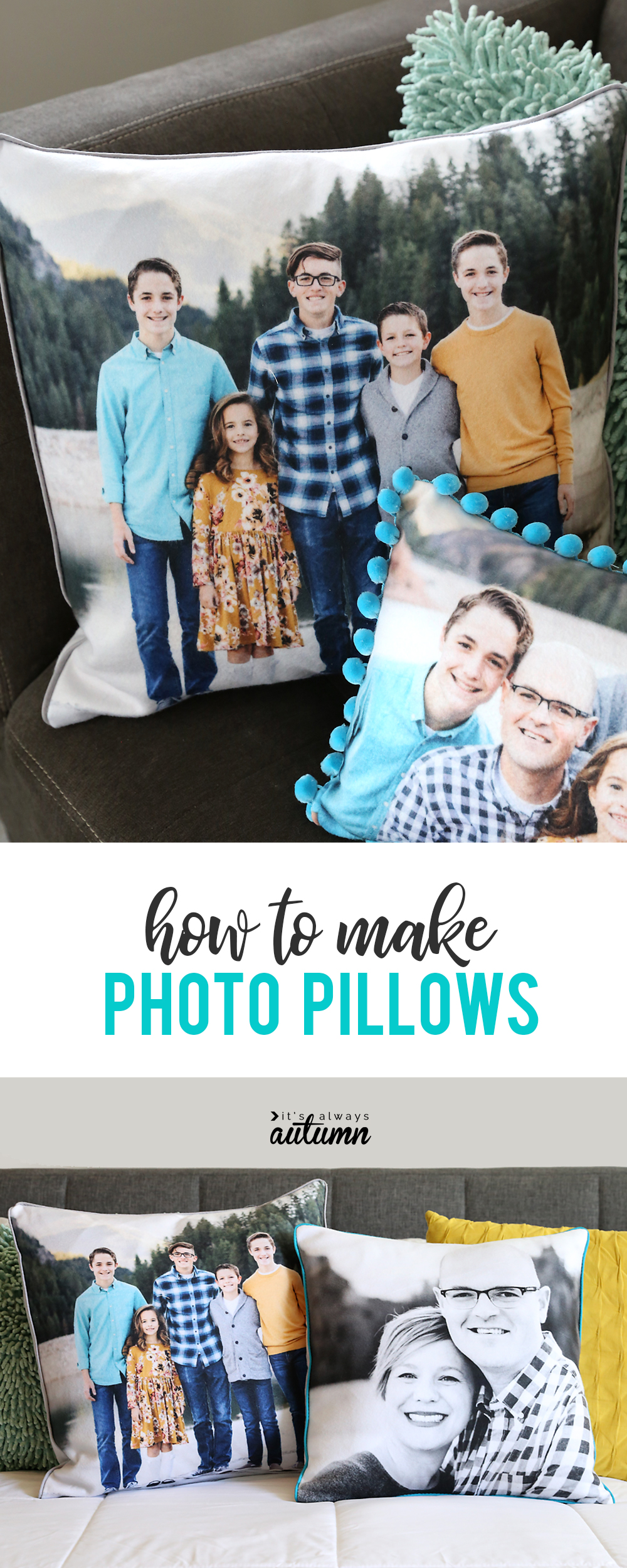 How to make custom photo pillows with your favorite pictures.