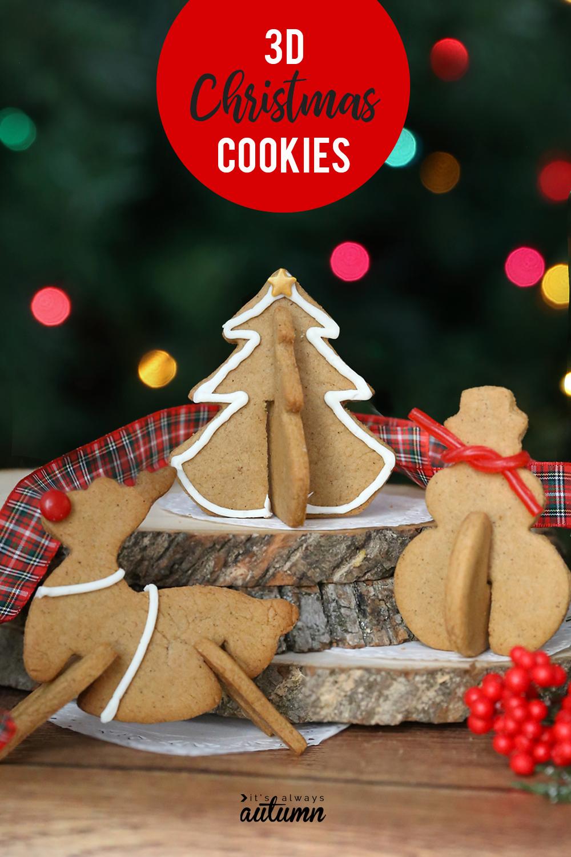 3D gingerbread Christmas cookies