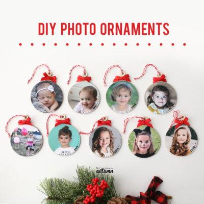Make easy keepsake photo ornaments for Christmas