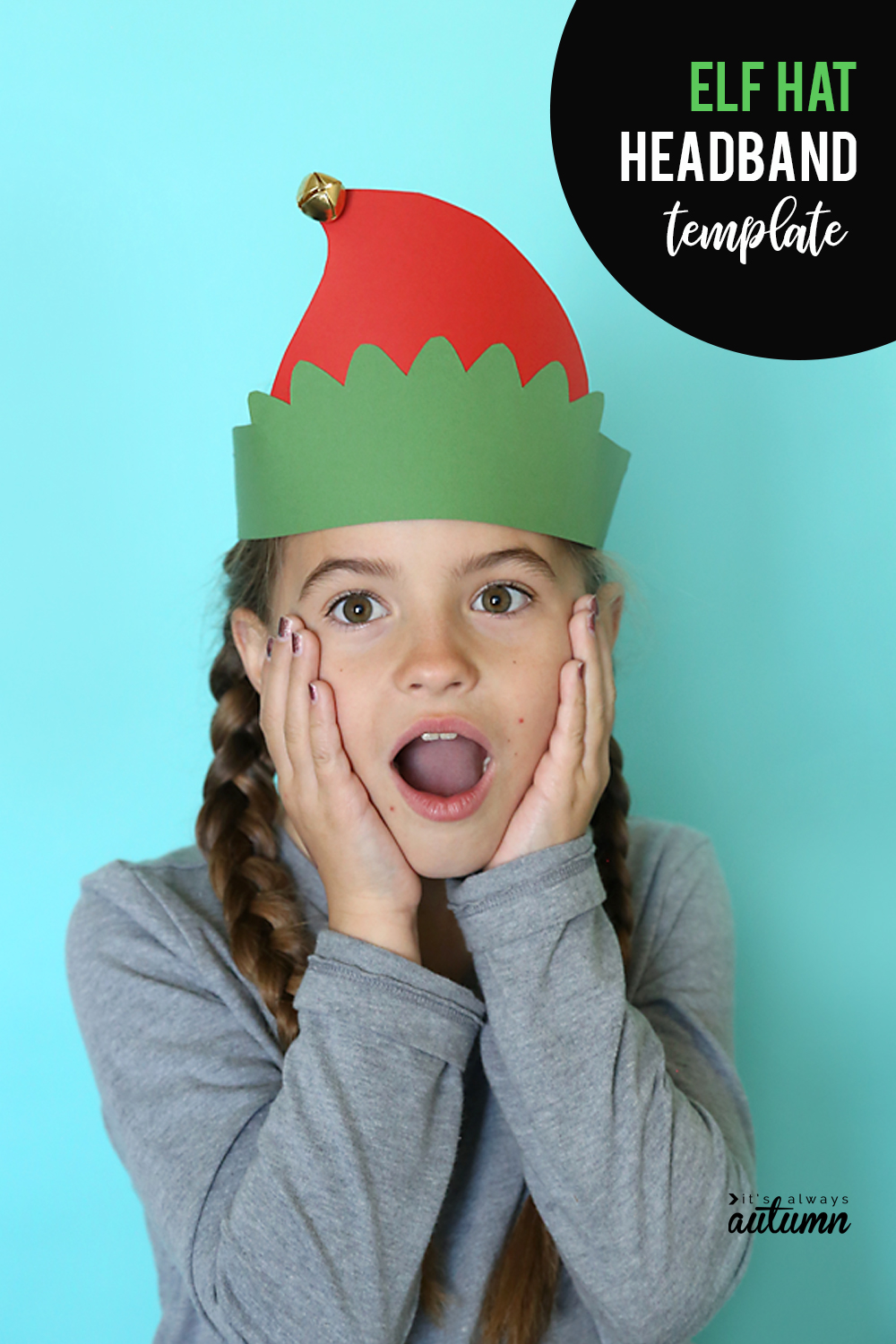 Cute Christmas headbands for kids! Paper Santa, Reindeer, and Elf headbands. Easy kids craft, great for classroom parties.