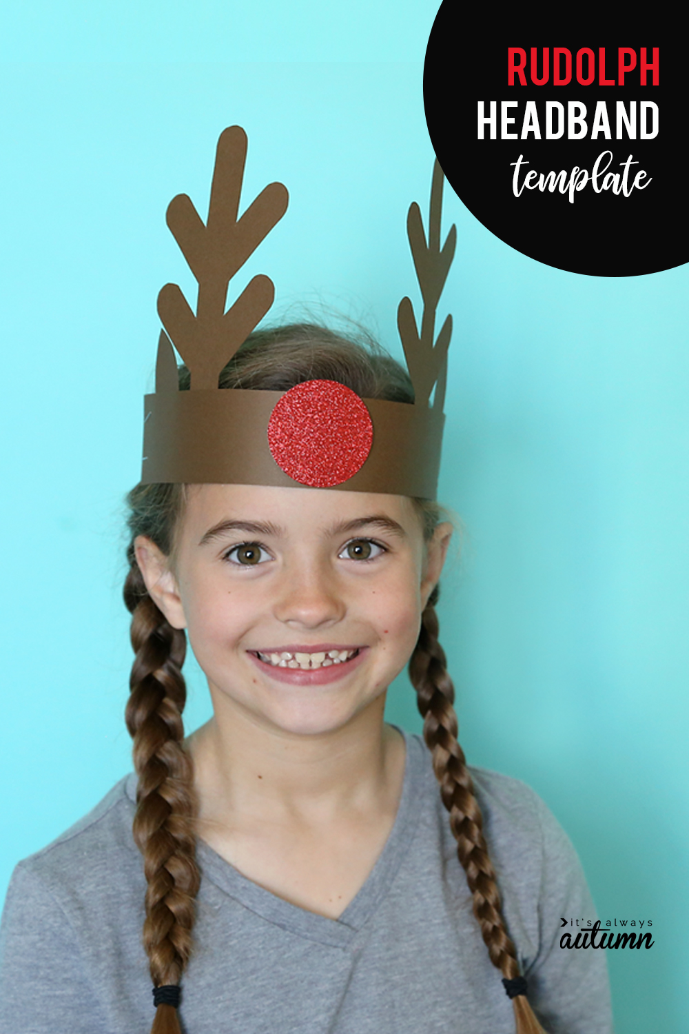 Cute Christmas headbands for kids! Reindeer headband, Santa headband, and Elf headband templates included. Click through to print them out. Easy activity for classroom Christmas parties.