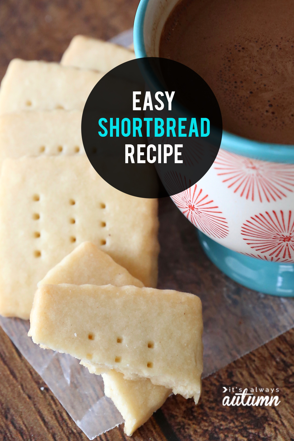 The is THE BEST homemade shortbread recipe, and it's so easy!