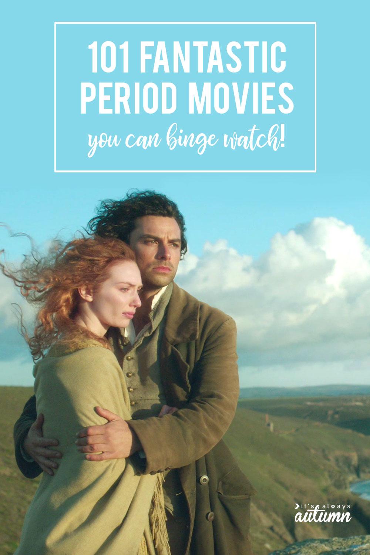 Eleanor Tomlinson, Aidan Turner in a period movie