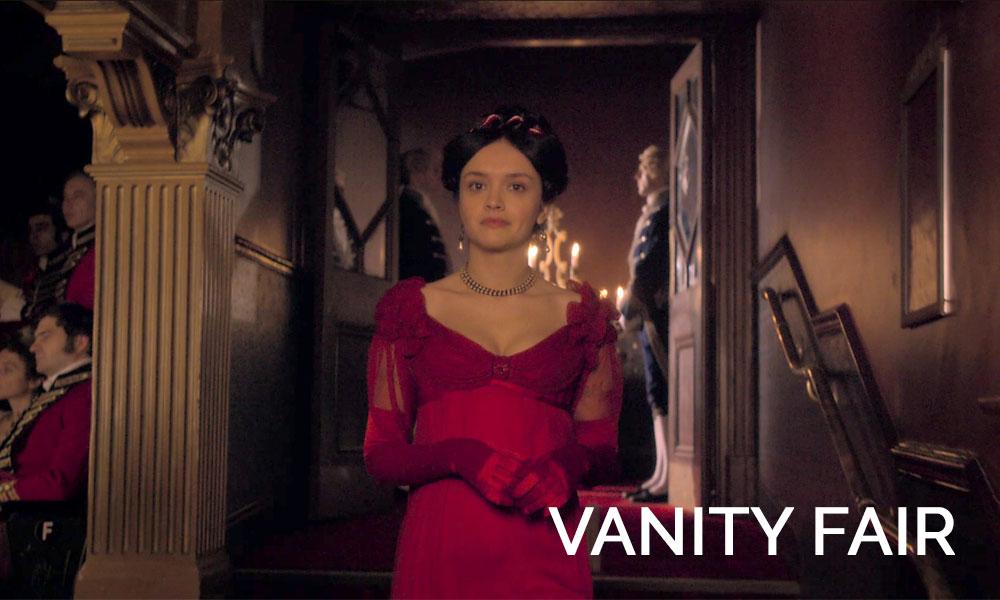 Olivia Cooke wearing a dress in Vanity Fair