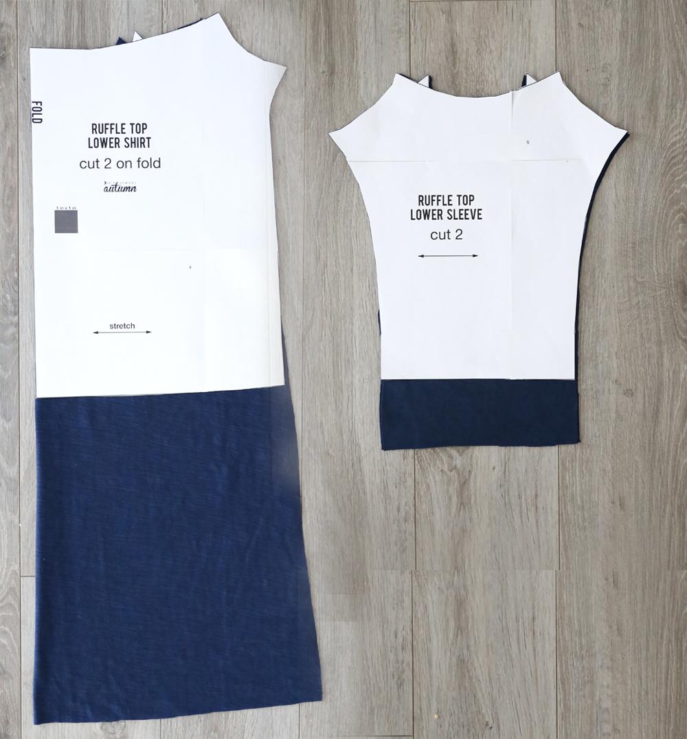 Cute girls ruffle dress free sewing pattern.