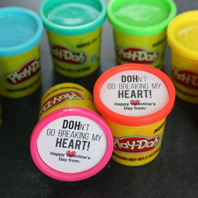 Play-DOH Valentines: printable classroom Valentine idea