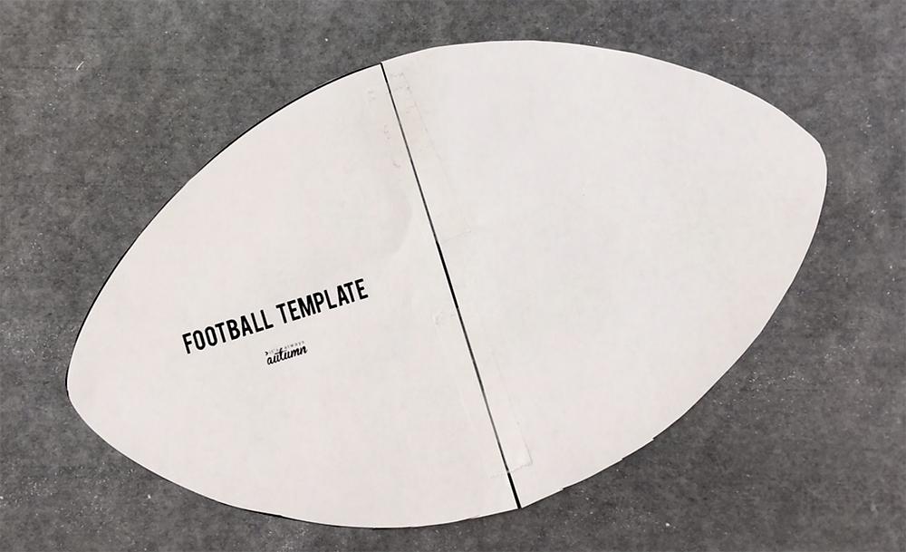 Football shape template
