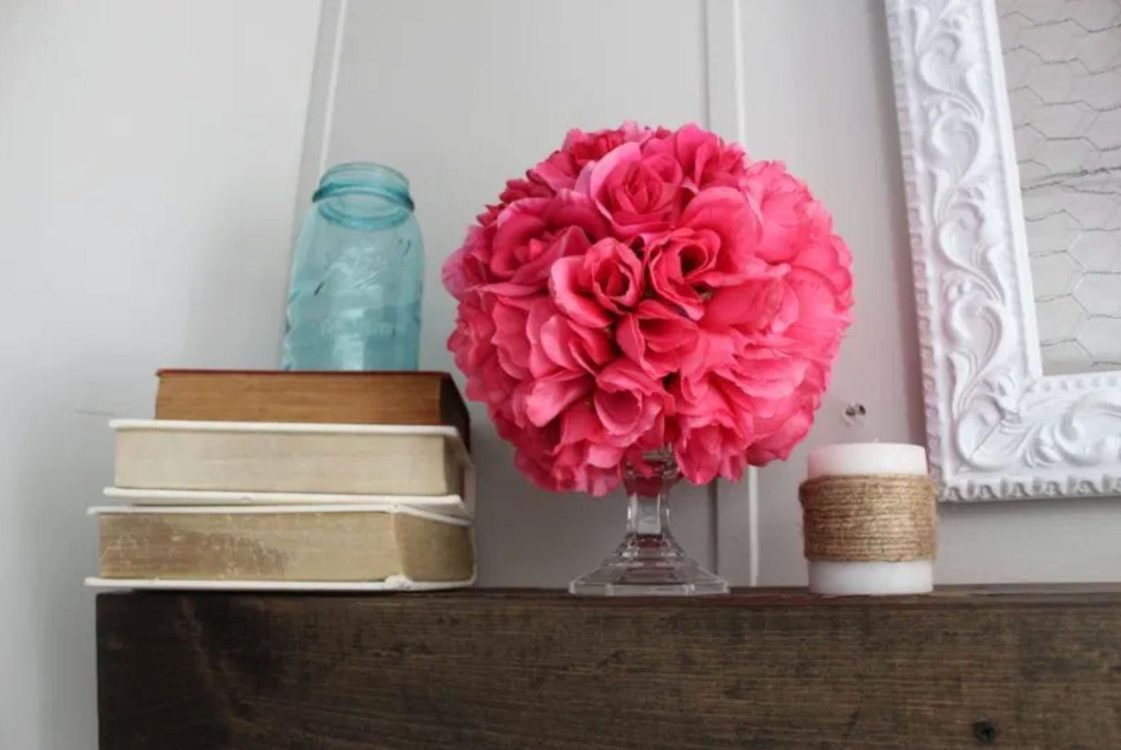 Valentines day flower ball DIY