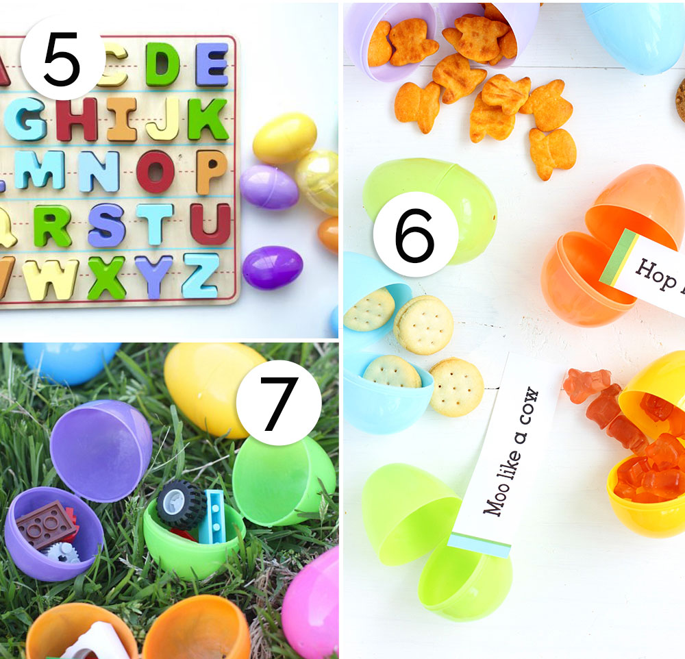Collage of Easter egg hunt ideas for kids