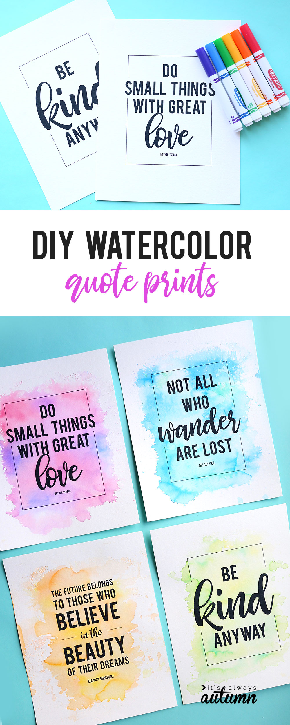 Make Gorgeous Cheater Watercolor Prints Using Markers Water It S Always Autumn