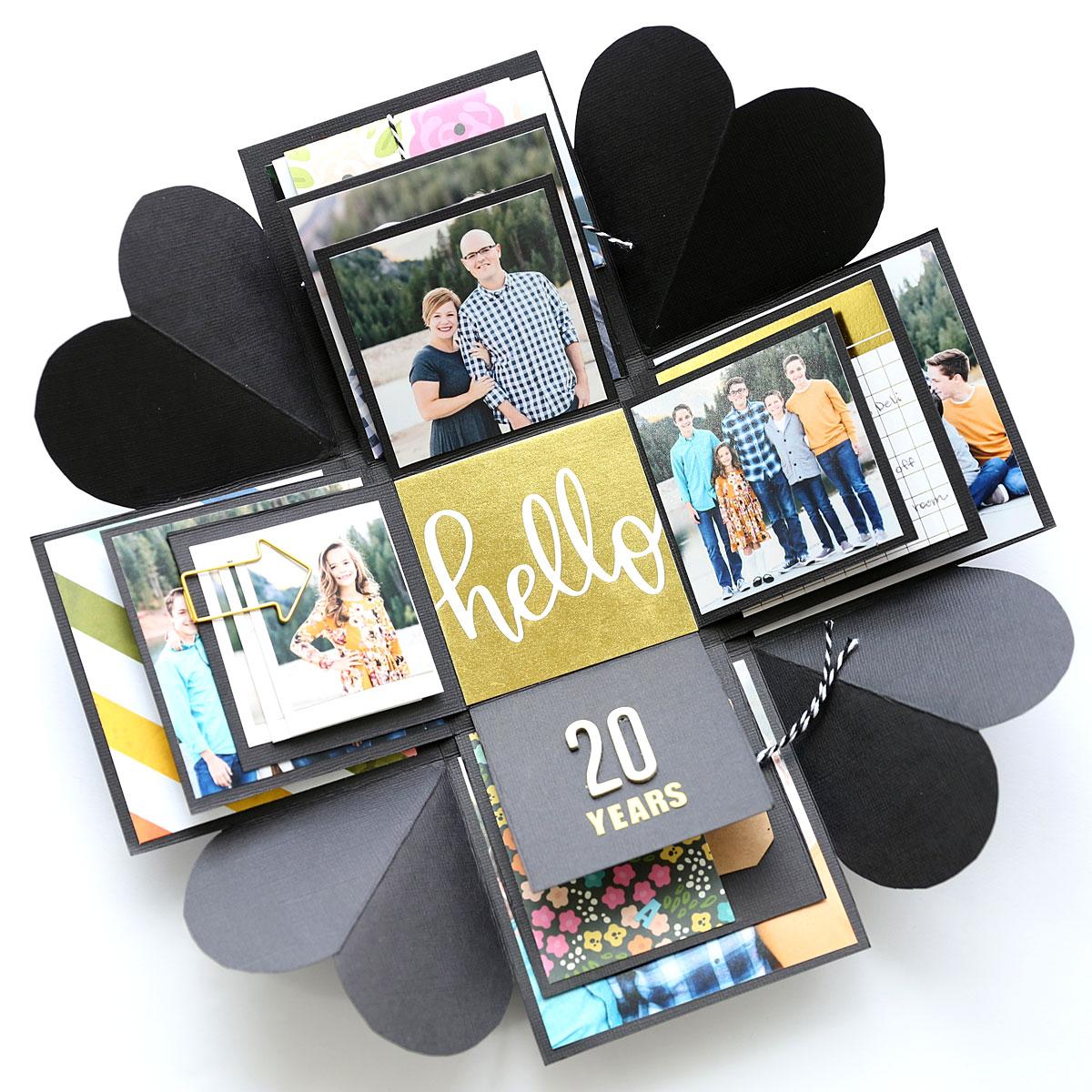 Explosion box card for husband  boyfriend valentine/'s gift for him