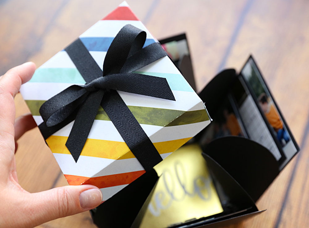 Learn how to make this cool DIY explosion box card.