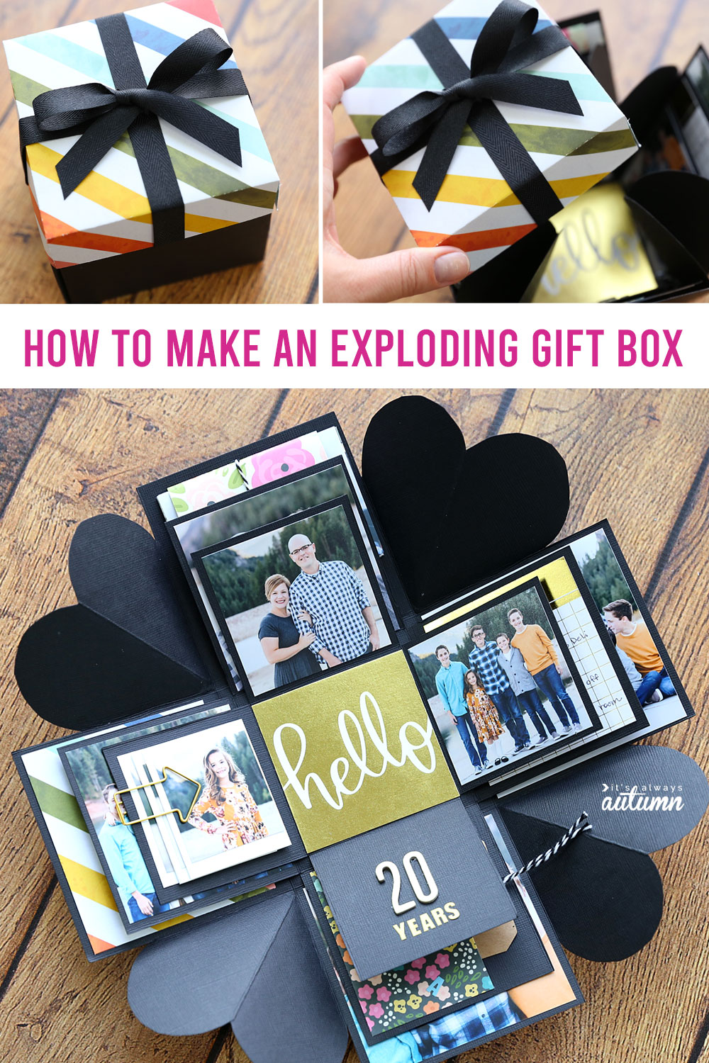 Learn how to make this cool DIY explosion git box.