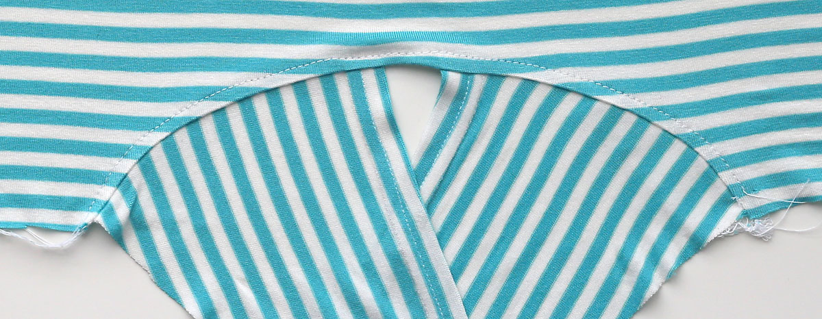 Close up of t-shirt ties