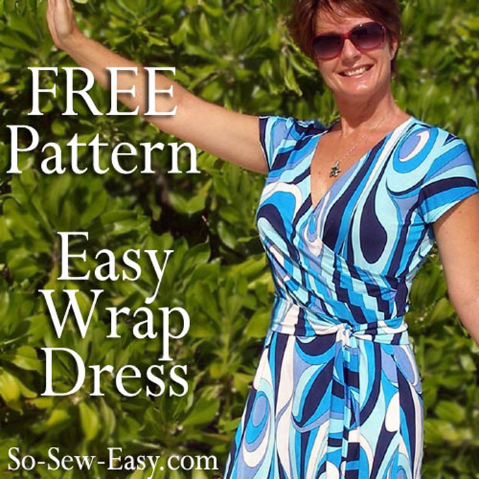 Wrap dress free sewing pattern