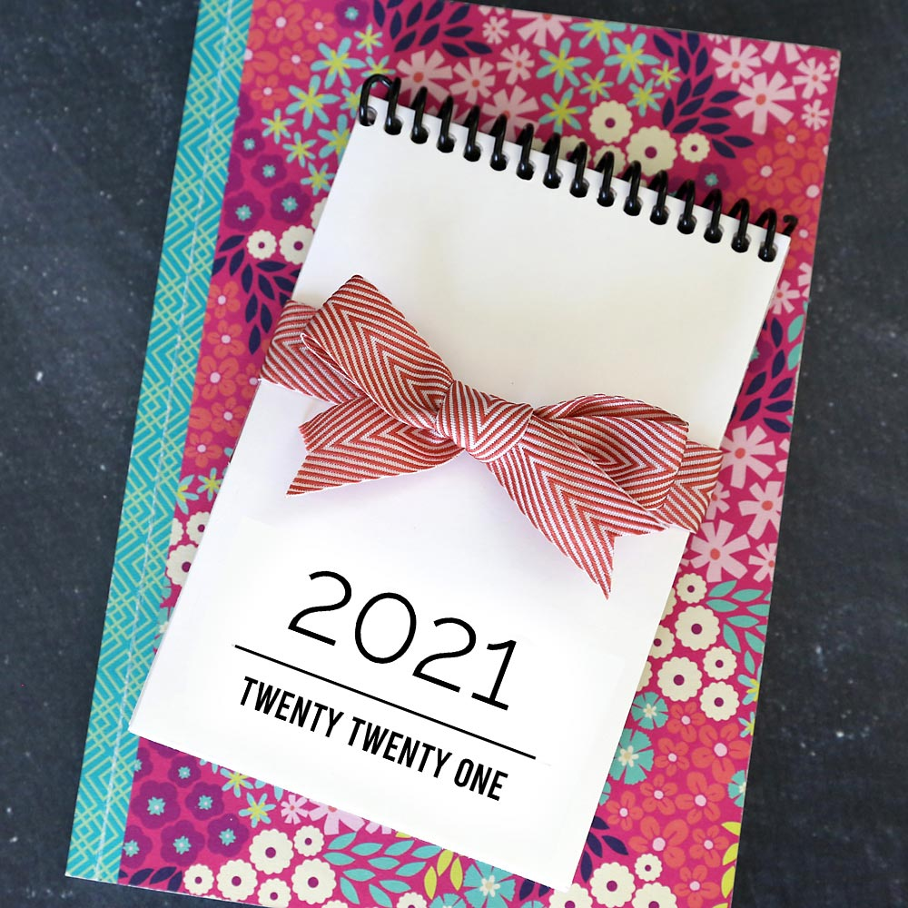 DIY photo calendar for 2021, bound with a flip stand