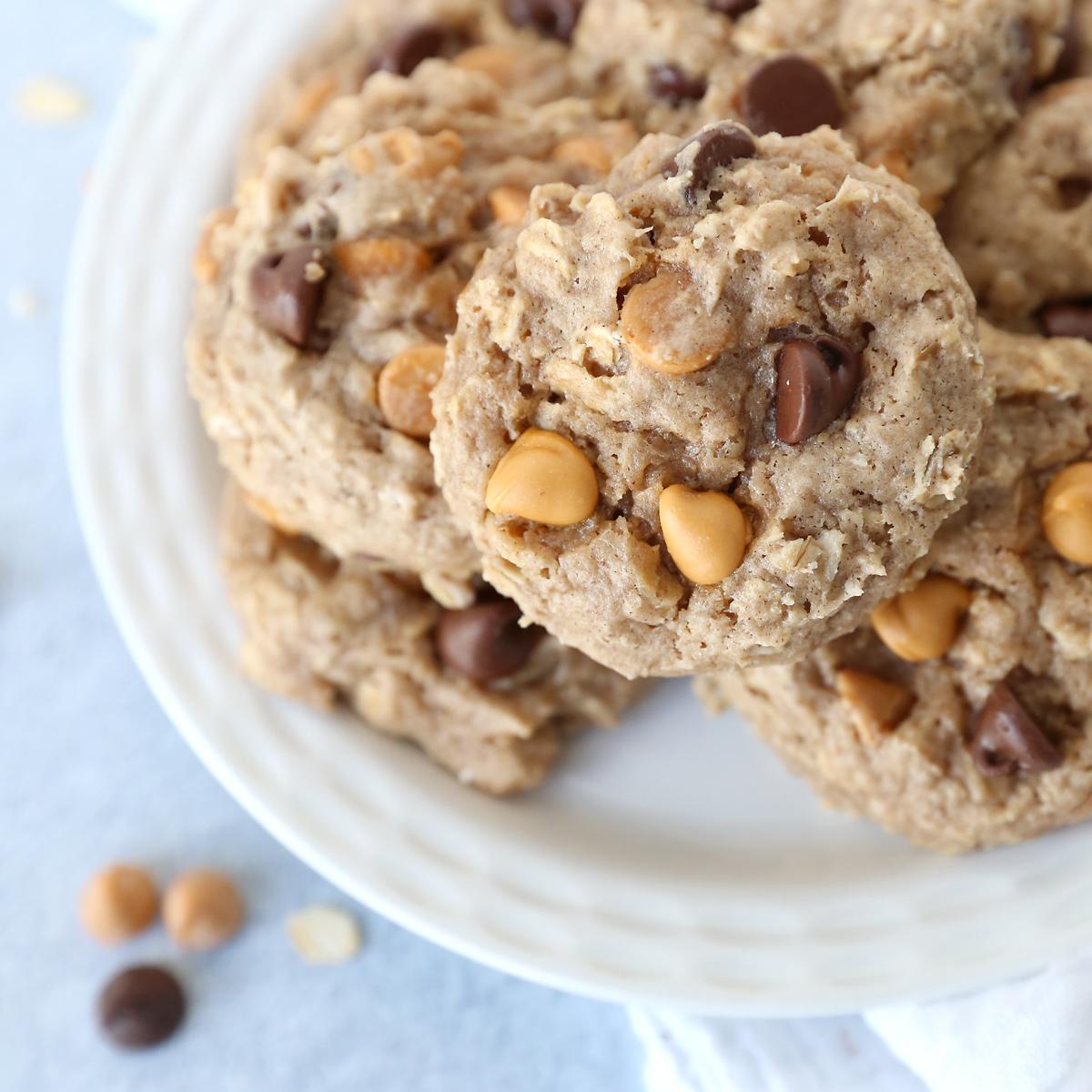 Butterscotch oatmeal spice cookies