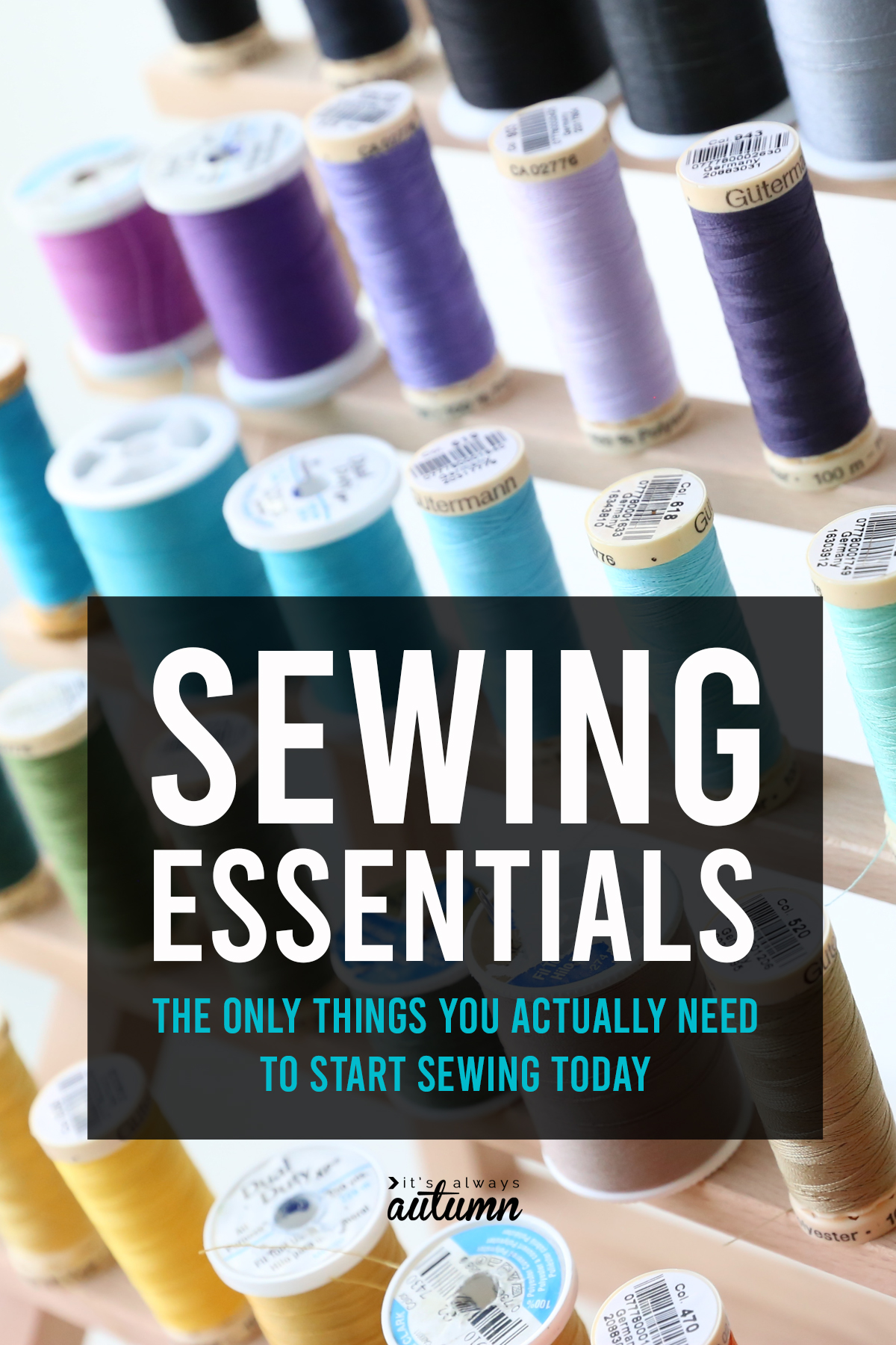 You DON'T need a huge amount of supplies to start sewing - just these sewing essentials.