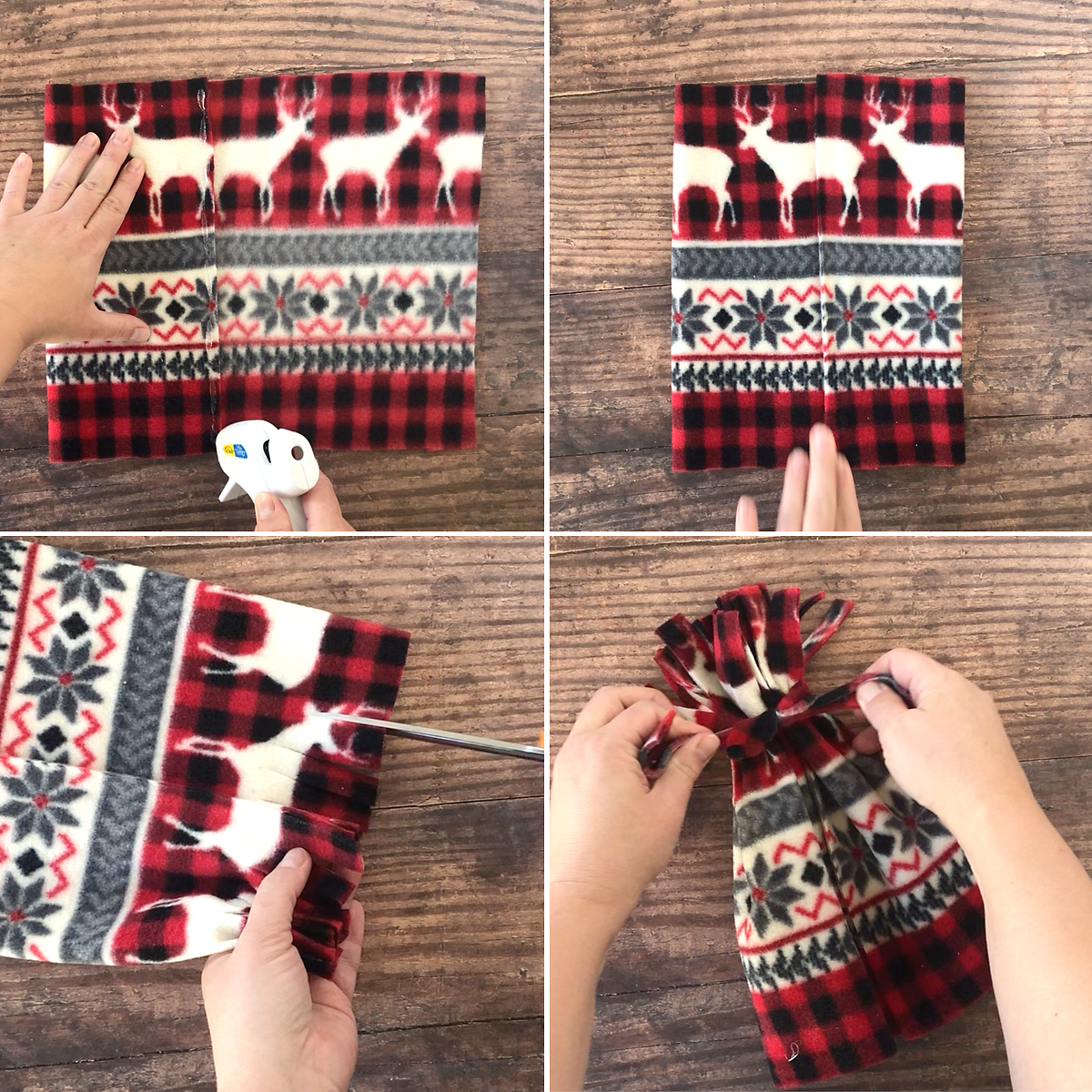 How to make a hat for a toilet paper snowman Christmas craft.
