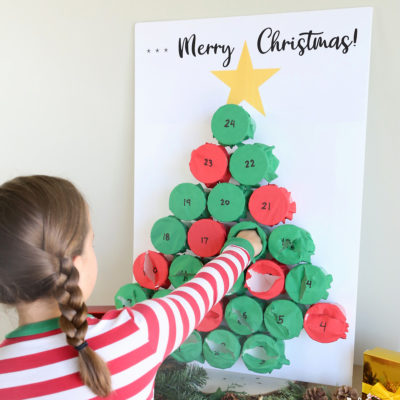 DIY Punch Out Advent Calendar
