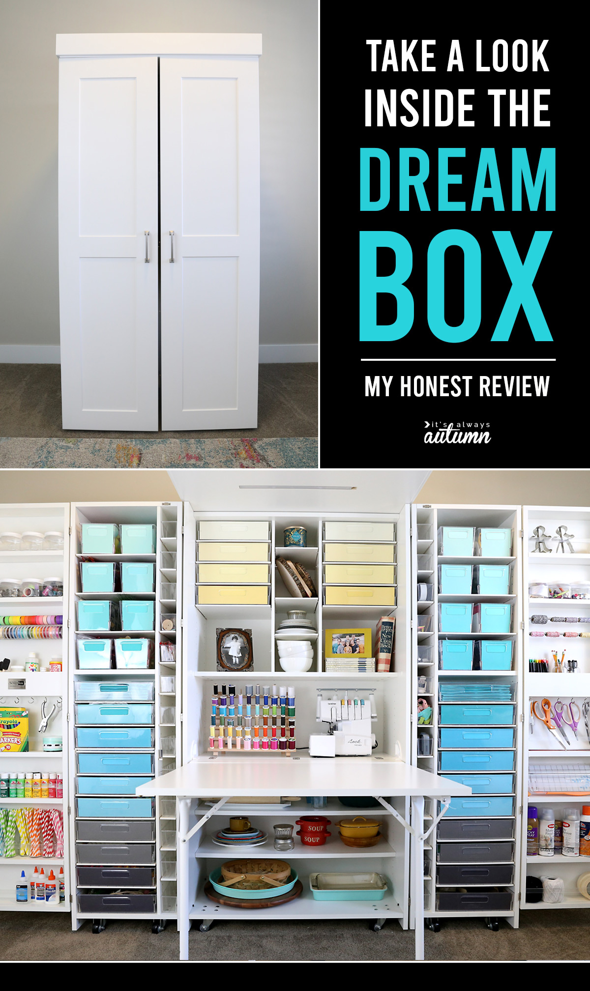 The DreamBox craft organization system can completely transform your craft room! Learn what I love about it, and what I don't.