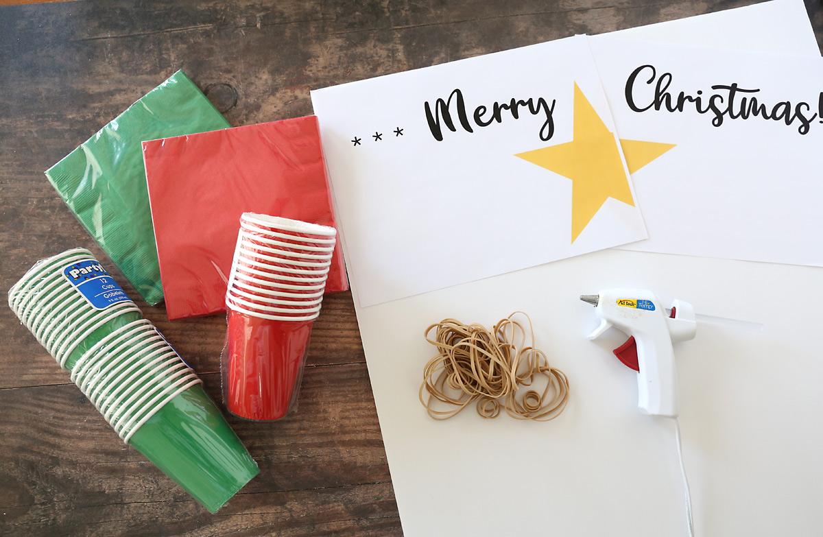 Punchout advent calendar supplies