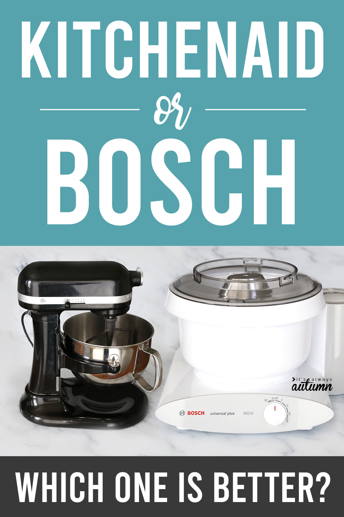 Kitchenaid vs. Bosch: which stand mixer is right for you? Find the pros and cons of each one.