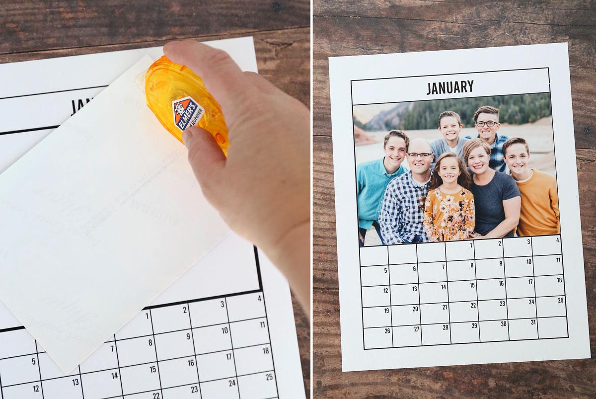 How to make a DIY photo calendar for 2020