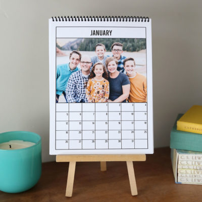 DIY 2020 Photo Calendar {just print + add photos!}