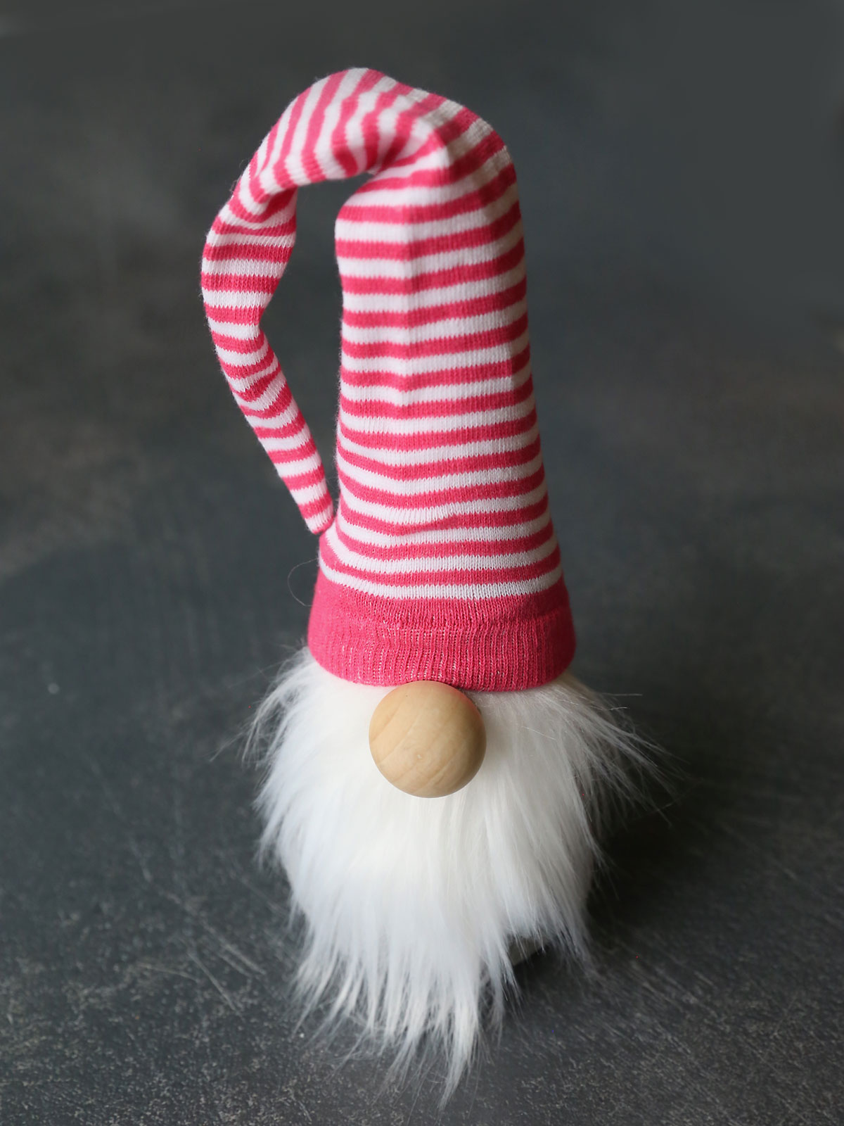 How to make a sock gnome: place hat on top