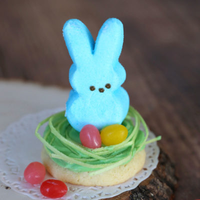 Easter Peeps Cookies (cake mix sugar cookie recipe)